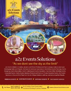 a2z Events Solutions Services details, Goals and Office Contact Number and details