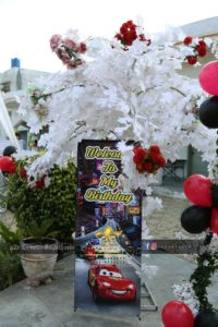 birthday party decor, welcome standee