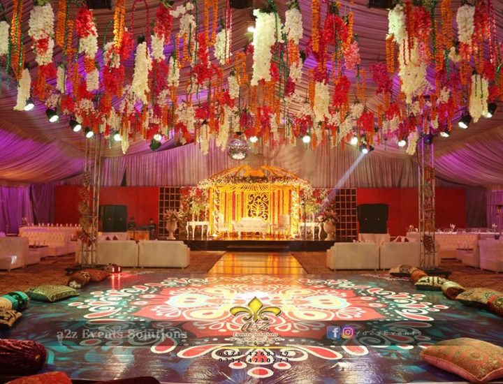 hanging garden, mehndi decor