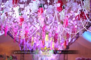 pearl beads hanging, imported flowers decor