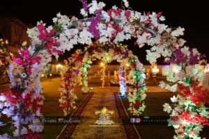 entrance decor, grand entrance, flowers decor
