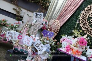 bridal shower props, props for events, creative designers, open-air events