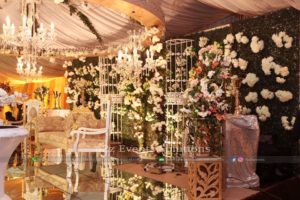 floral backdrop, imported flowers decor