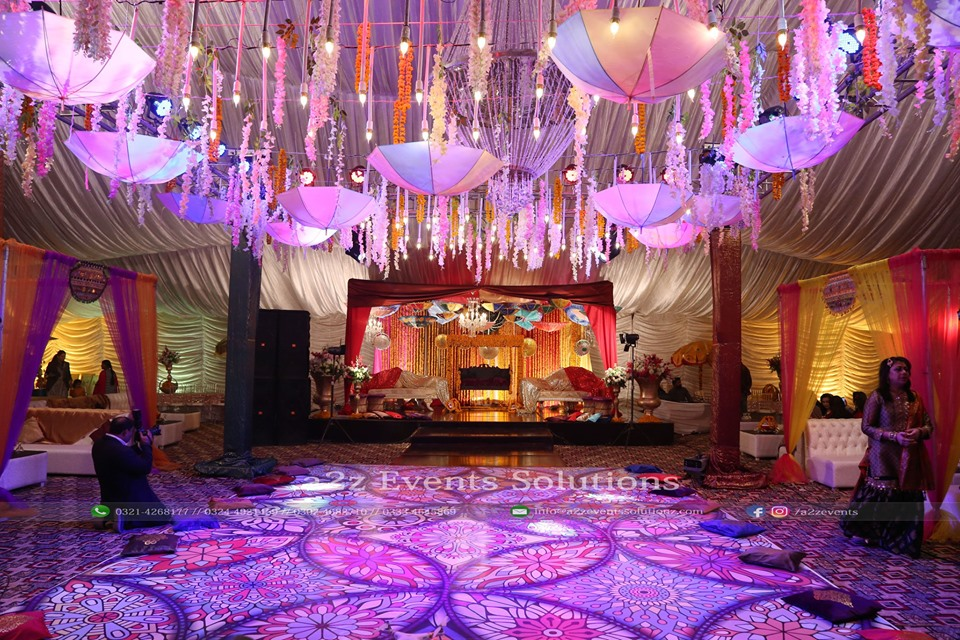 wedding setup designers, mehndi setup decor experts