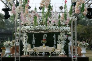 hanging garden, imported flowers decor