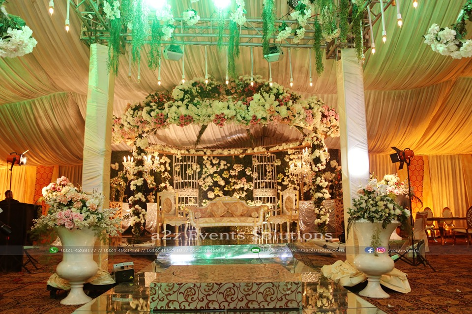 wedding stage, walima stage, imported flowers decor, stages designers in lahore
