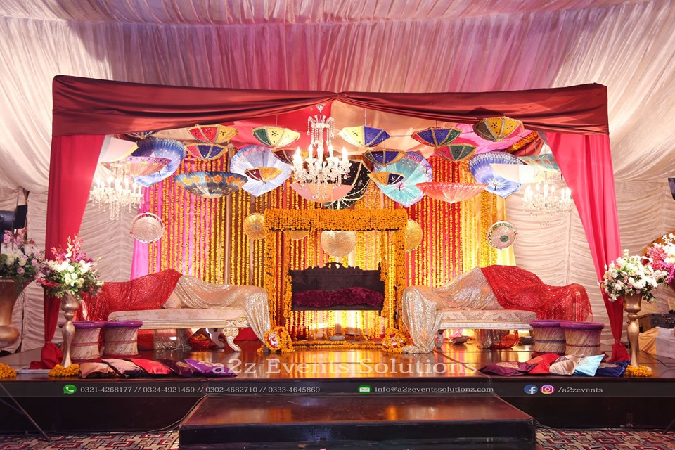 arabian stage, stages designers in lahore, mehndi stage, new themed stage
