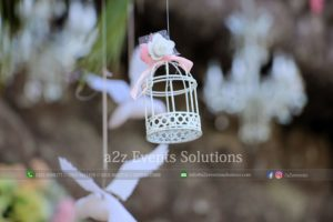 hanging garden, fancy cage, white theme