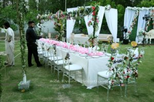 best caterers in lahore, vip dining, head table decor