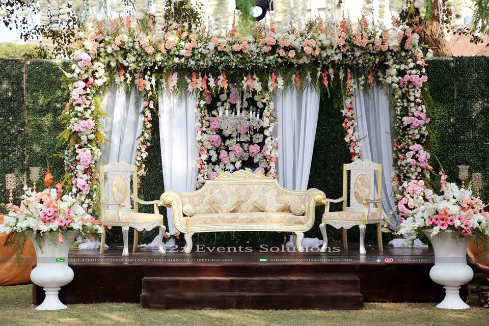 stages designers in lahore, stage decor, wedding stage, western style stage