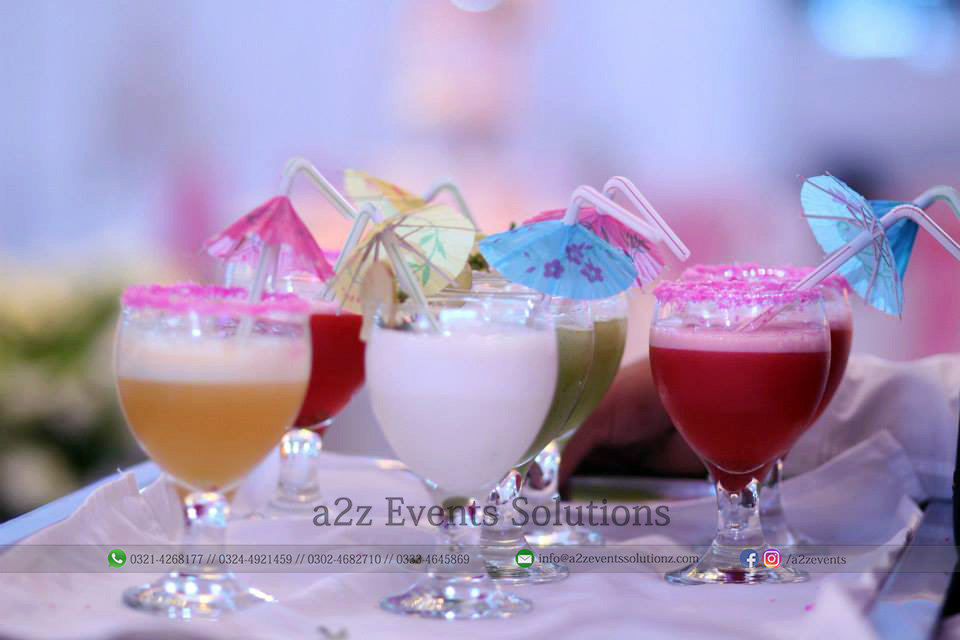 welcome drink, catering company in lahore