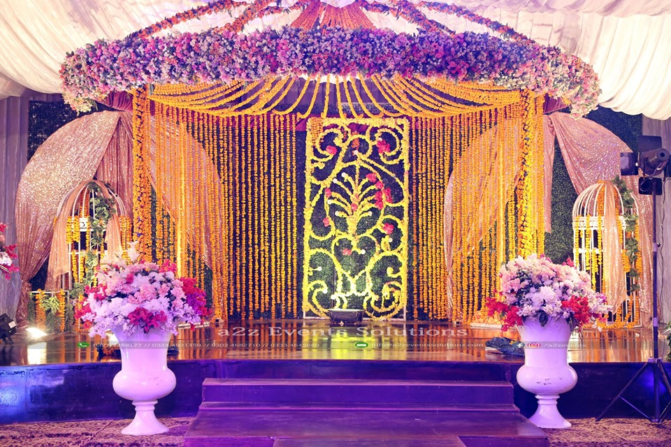 dome stage, wedding stage, mehndi stage, grand stage
