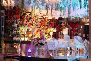 stages designers in lahore, grand vip wedding stage
