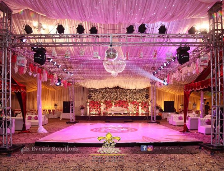 barat setup, vip decor, hanging garden, a2z events solutions