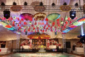mehndi setup, wedding planners and designers, four sided truss, stages designers