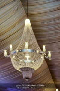 hanging chandeliers, a2z events solutions