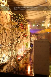 imported flowers decor, stage backdrop