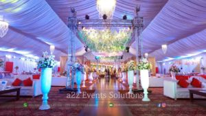 hall decor, area decor, wedding planners in lahore, hanging garden