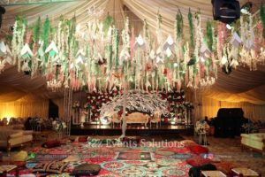 wedding planners in lahore, grand mehndi thematic setup