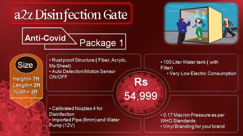 sanitizer walk through gate service providers in lahore