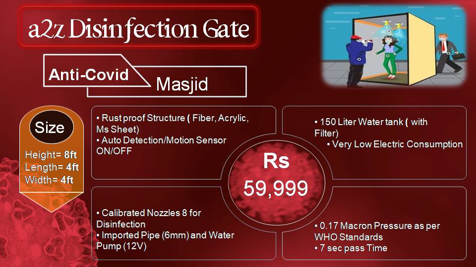 disinfectant walkthrough gate service providers in lahore