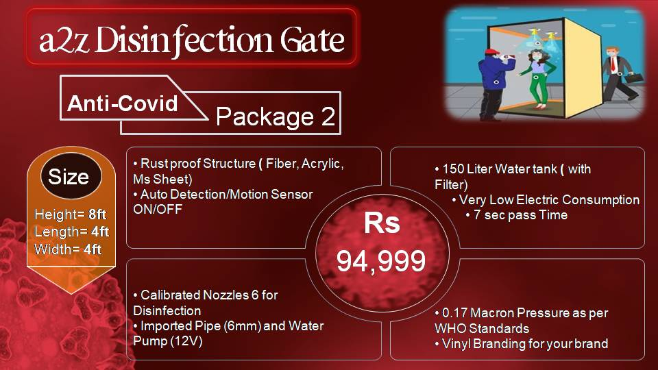 disinfectant tunnel service providers in lahore