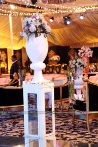 walkway decor, imported and fresh flowers decor