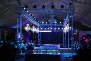 grand setup, best caterers in lahore, product launching , hair product, truss system, truss lighting