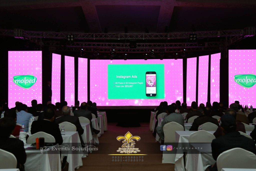 smd screen, best corporate event setup
