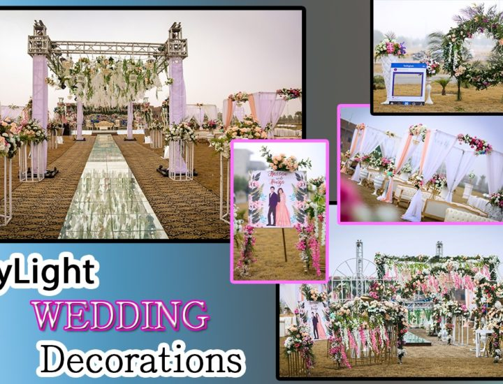 open air walima event, creative wedding planners and designers