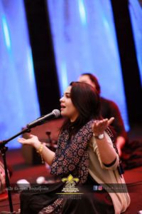 famous singer, stage performance