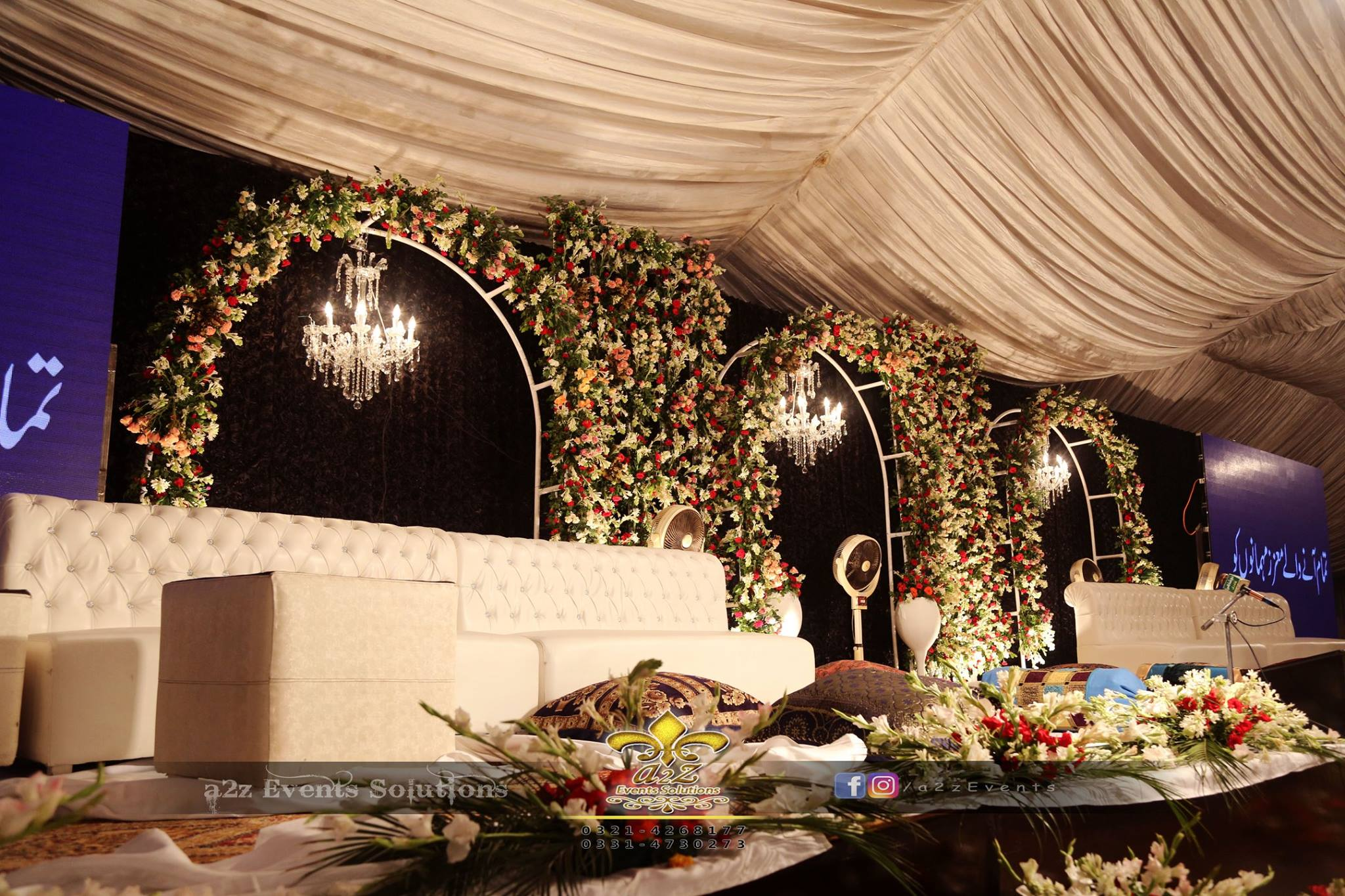 grand stage, mehfil-e-naat stage