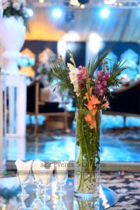glass vase, fresh and imported flowers decor