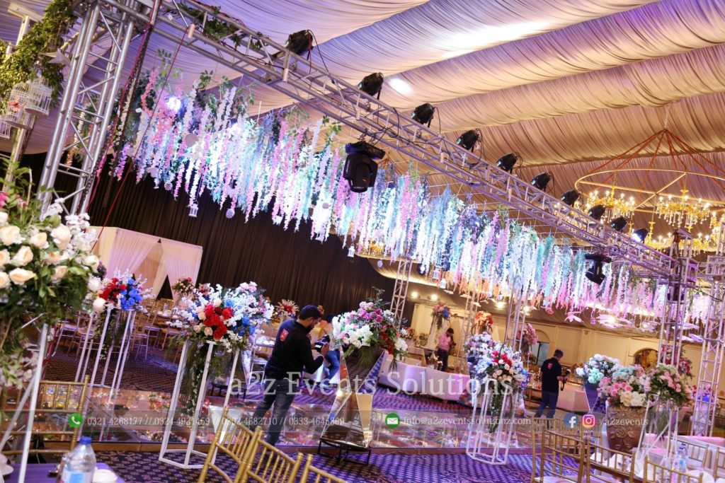 area decor, imported and fresh flowers decor experts, truss hanging garden, truss system