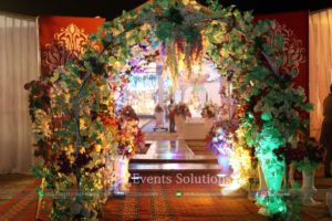 wedding decor, wedding entrance