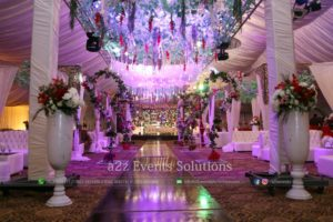 walkway decor, wedding designers and decorators