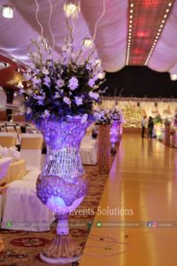 imported and fresh flowers decor, area decor
