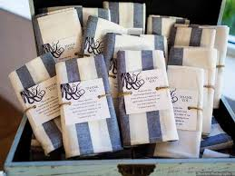 Customized Tea towels for wedding favors