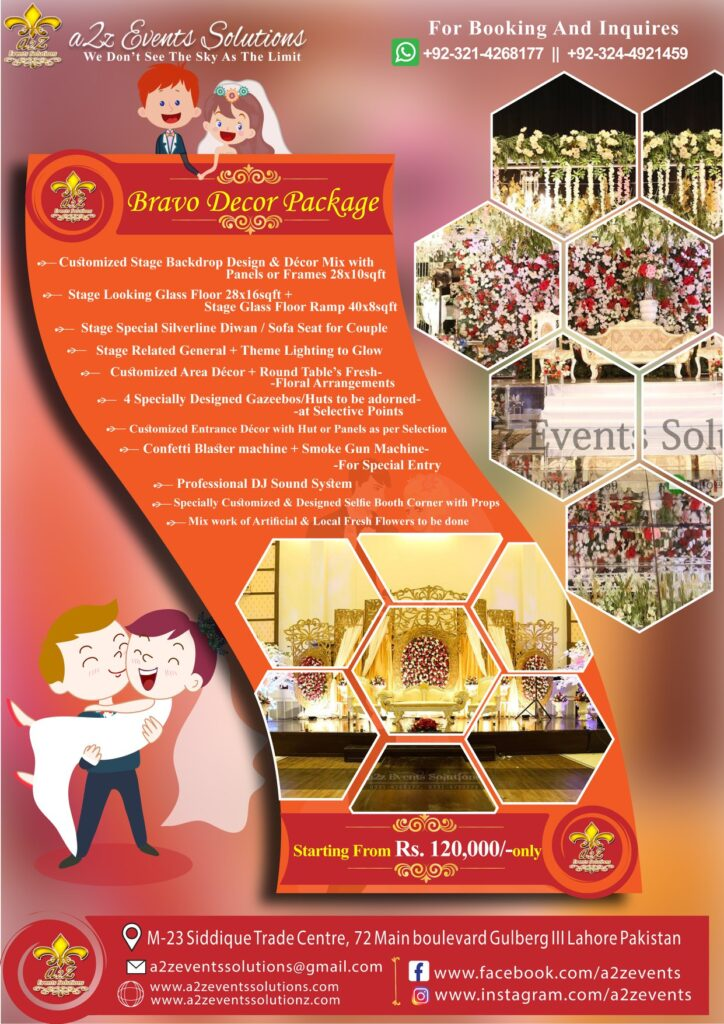 wedding packages by a2z event solutions