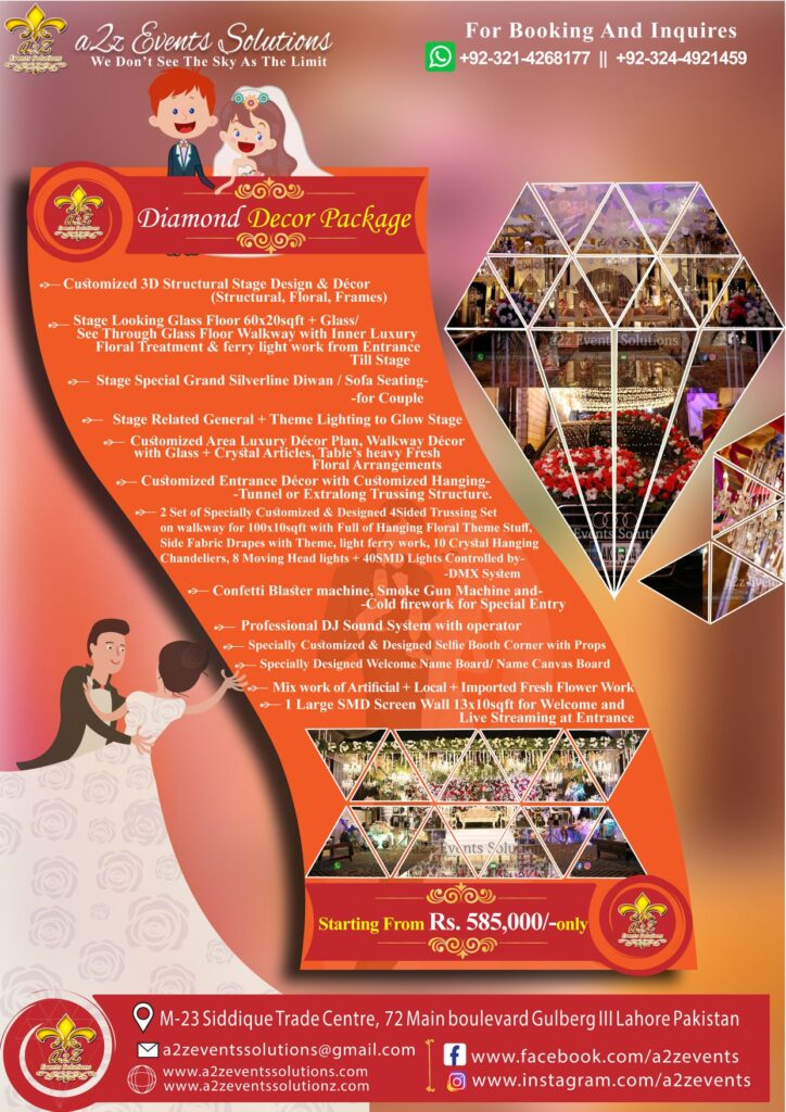 lavish decor packages, royal wedding packages, royal wedding decor packages, high class wedding packages