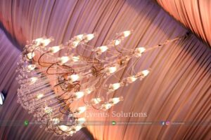 hanging chandeliers, royal decor