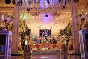 grand vip walima stage. stages designers in lahore