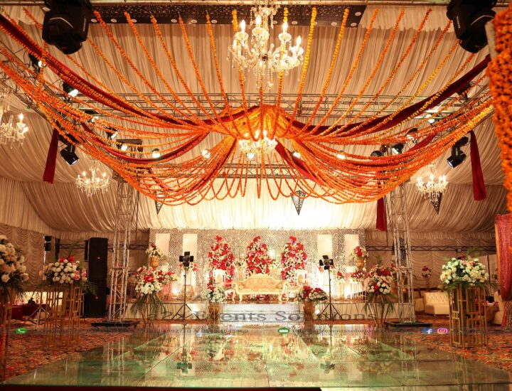wedding setup, mehndi event