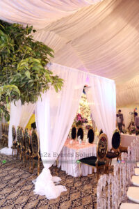 catering company, headtable decor