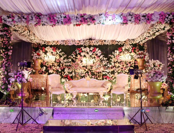stage decor, wedding stage