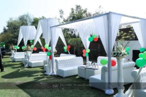 outdoor setup, thematic planners