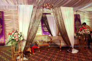 thematic multi colored gazebo, best catering company in lahore
