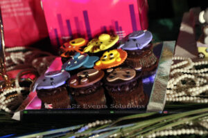 table decor, customized muffins