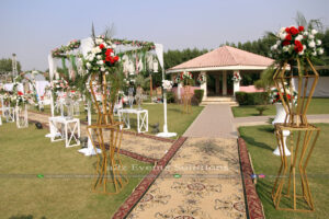 wedding entrance, imported flowers
