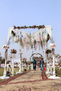 western gazebo, themed wedding